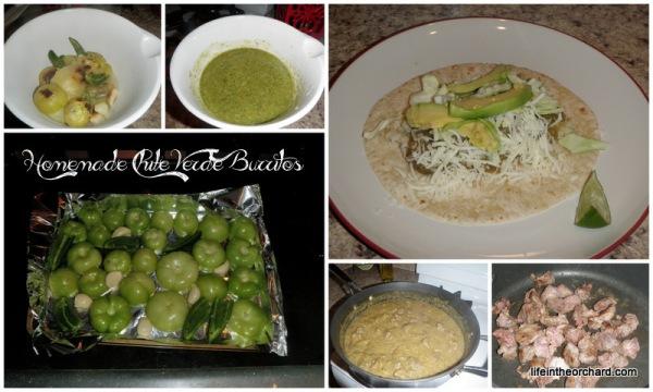 Chile Verde Burritos