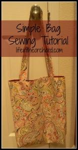 Simple Bag Sewing Tutorial