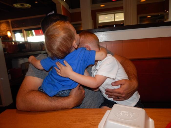 Random Hugs at Dinner