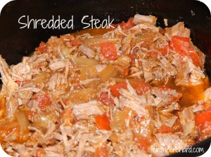 shredded steak