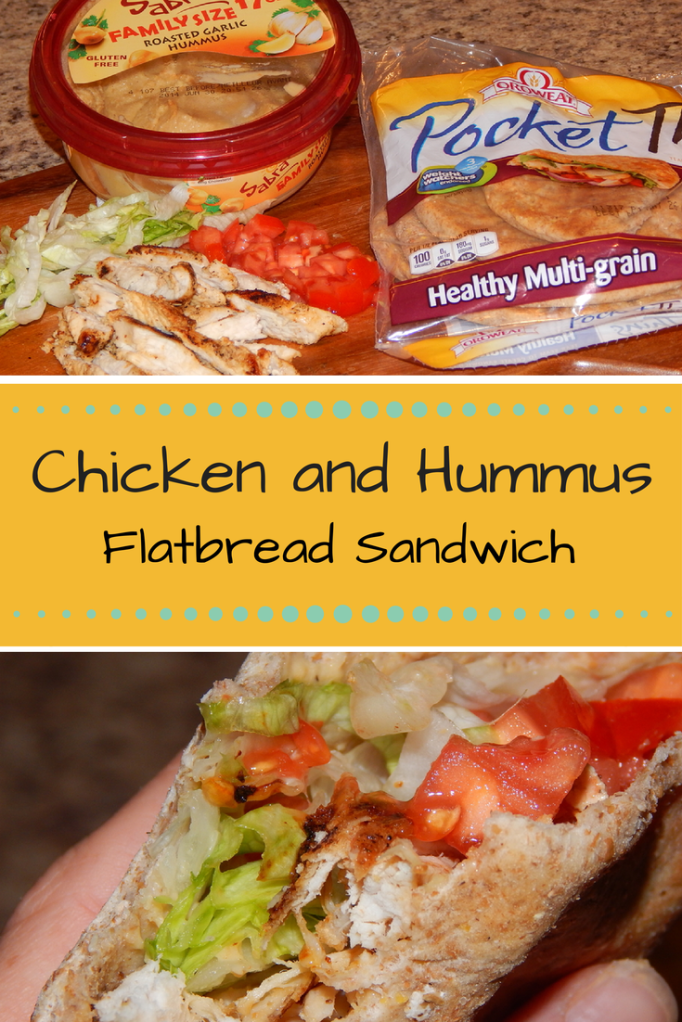 Deliciously Simple Chicken and Hummus Sandwich